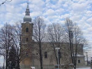 Kostol Všetkých svätých v zime
